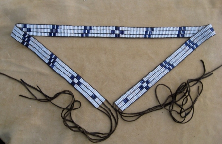 Wampum belt patterned after the movie The Last of the Mohicans. By Gary Bertelsen