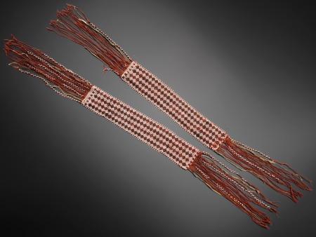 Original Garters associated with Osceola (Seminole, 1803–1838)