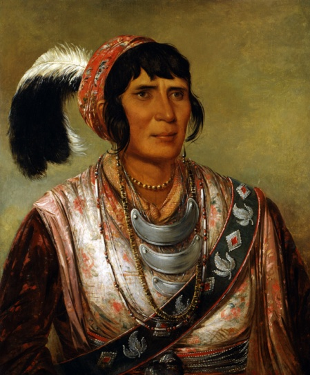 Seminole leader Osceola Portrait by George Catlin 1838.