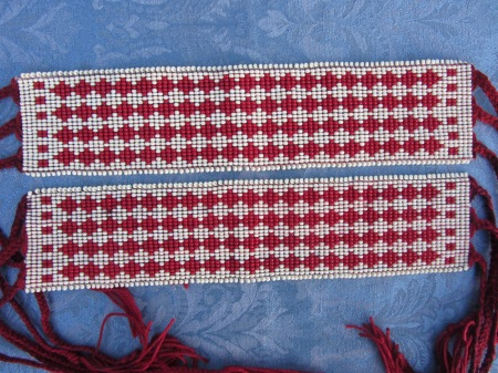Replica Beaded Garters associated with Osceola, Seminole. Donated for the WCHF Raffle