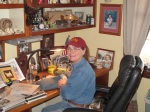 Kathy Sibley at her work table