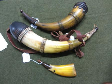 Non Engraved Powder Horn Competition. 1st 2nd 3rd