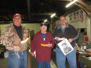 Engraved Horn Contest Winners Steve Vance, Henry Frank (Crawdad), Chip Kormas
