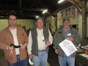 Non Powder Horn competition Dave Rase , Glenn Sutt, Richard Downs