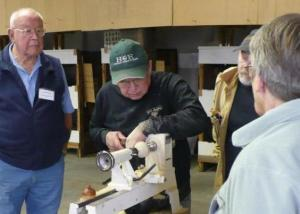 Glen Sutt making a horn in one day to be auctioned off that evening.