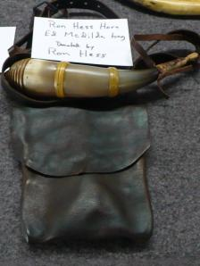 Ron Hess Horn and Ed McDilda bag, donated by Ron Hess