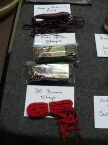 Horn straps by Lynn Blevens, Weaving Welshman (won by Glenn Sutt); Kris Polizzi Custom Weaving (won by Glenn Sutt) ; Strap by Bo Brown (won by Scott Morrison)