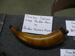 Powder Horn by John Shorb Raffle item won by Keven Hart
