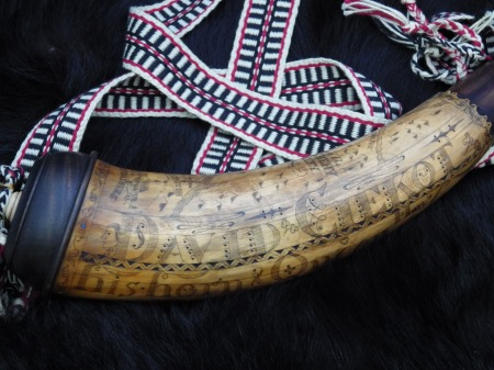 Finished Horn with strap.
