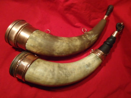 Interesting horns with copper at the base.